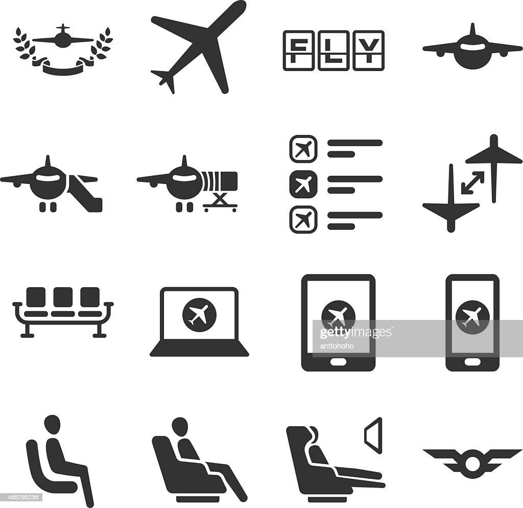 Aviation icons set 6