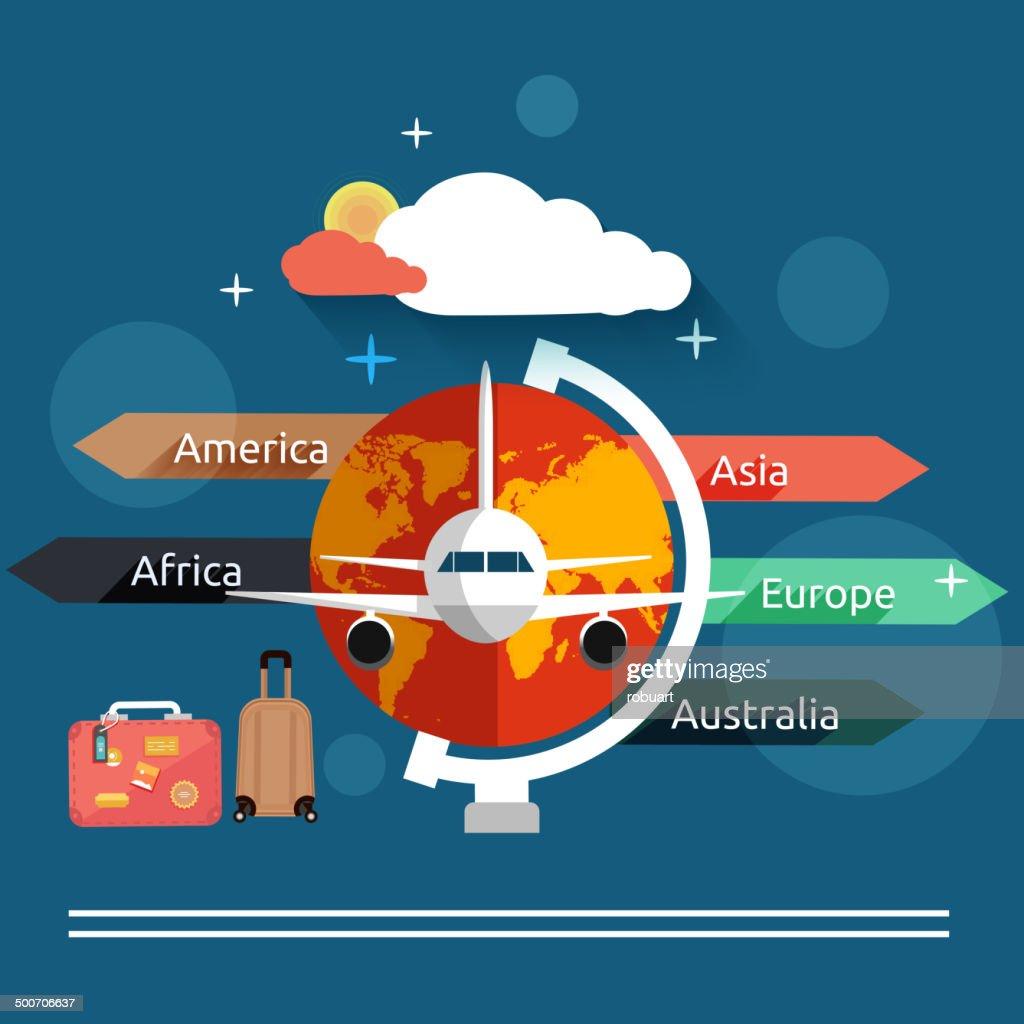 Aviator concept in flat design
