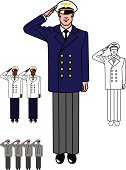 Aviator in uniform