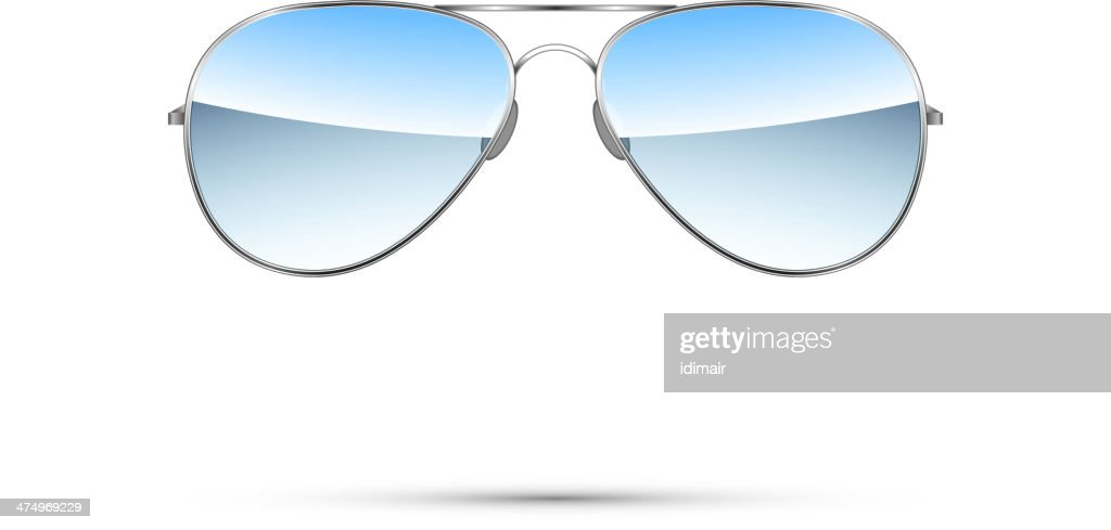 Aviator sunglasses isolated on white. Vector
