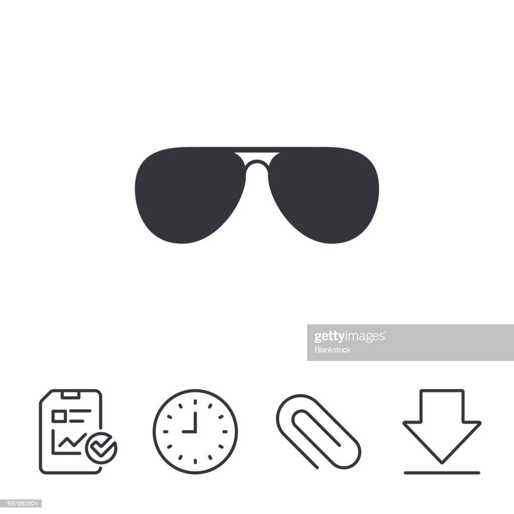 Aviator sunglasses sign icon. Pilot glasses.