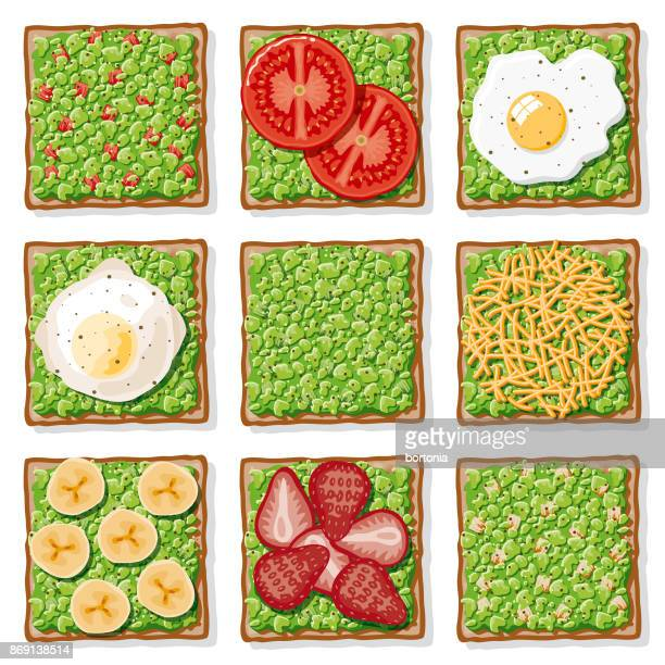 Avocado Toast Icon Set