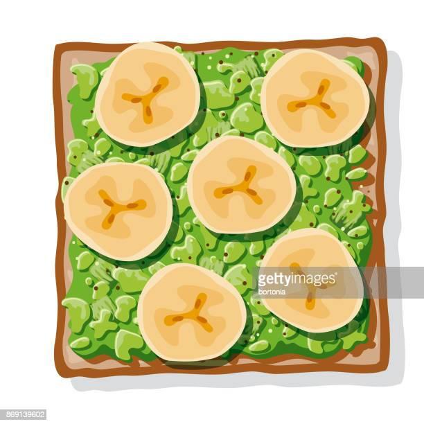 Avocado Toast met gebakken bananen