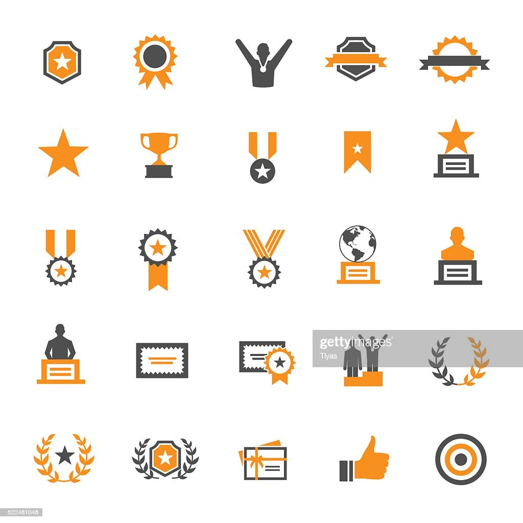 Award and Honor Icon Set : stock illustration