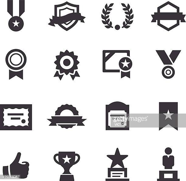 award and honor icons - acme series - achievement stock illustrations, clip art, cartoons, & icons