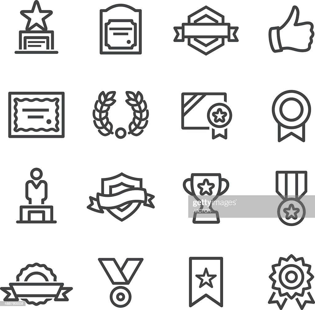 Award and Honor Icons - Line Series
