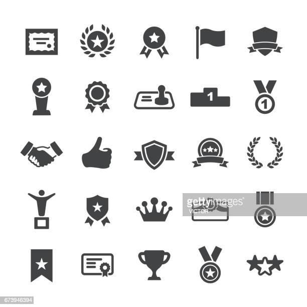 ilustrações, clipart, desenhos animados e ícones de prêmio e homenagear ícones - série smart - loureiro