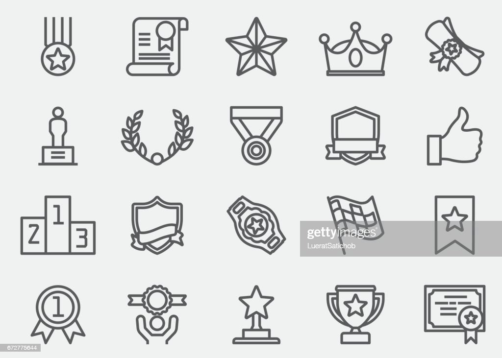 Award and Honor Line Icons | EPS 10