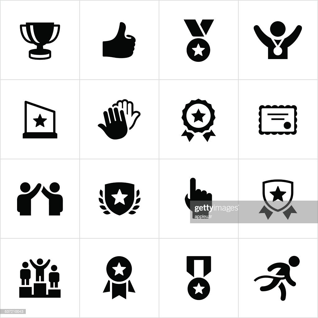 Award and Recognition Icons : stock illustration