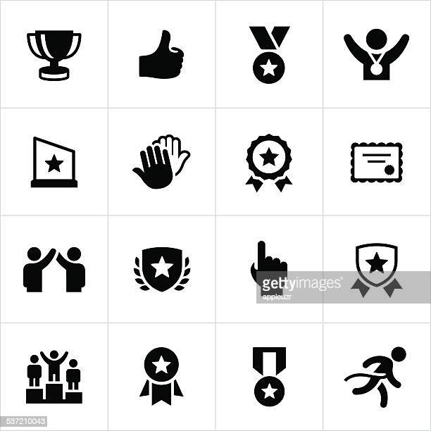 award and recognition icons - award plaque stock illustrations, clip art, cartoons, & icons