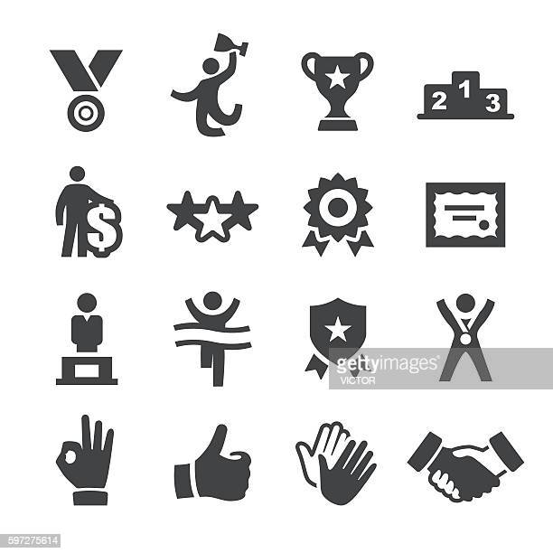 award and success icons - acme series - incentive stock illustrations, clip art, cartoons, & icons