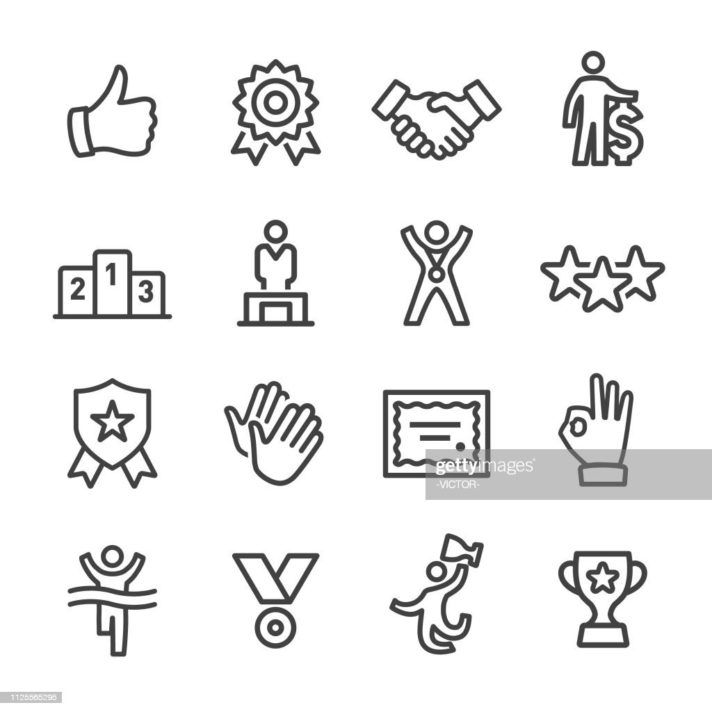 Award and Success Icons - Line Series : stock illustration
