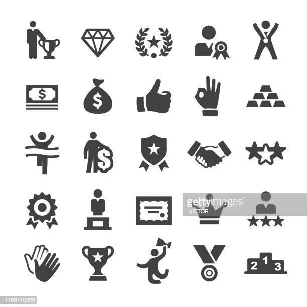 illustrazioni stock, clip art, cartoni animati e icone di tendenza di award and success icons - smart series - award