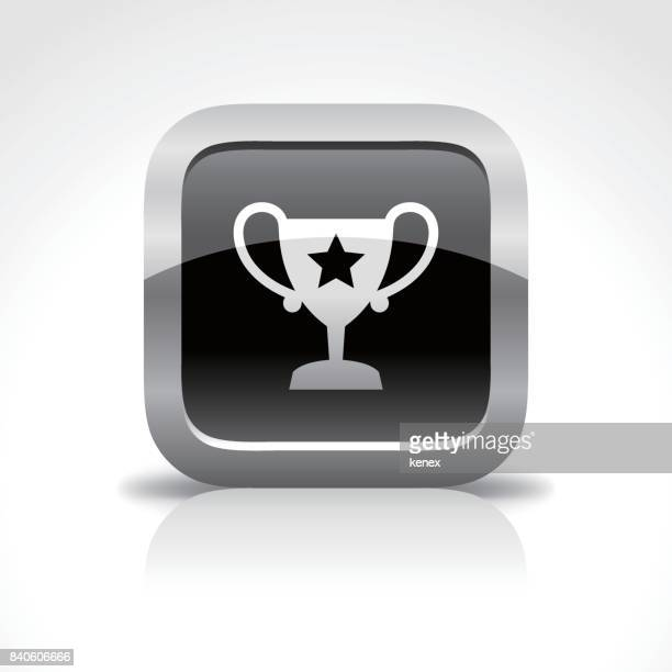 Award and Trophy Glossy Button Icon