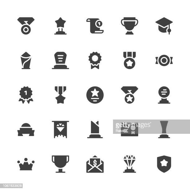 Award and Trophy Icons - Gray Series