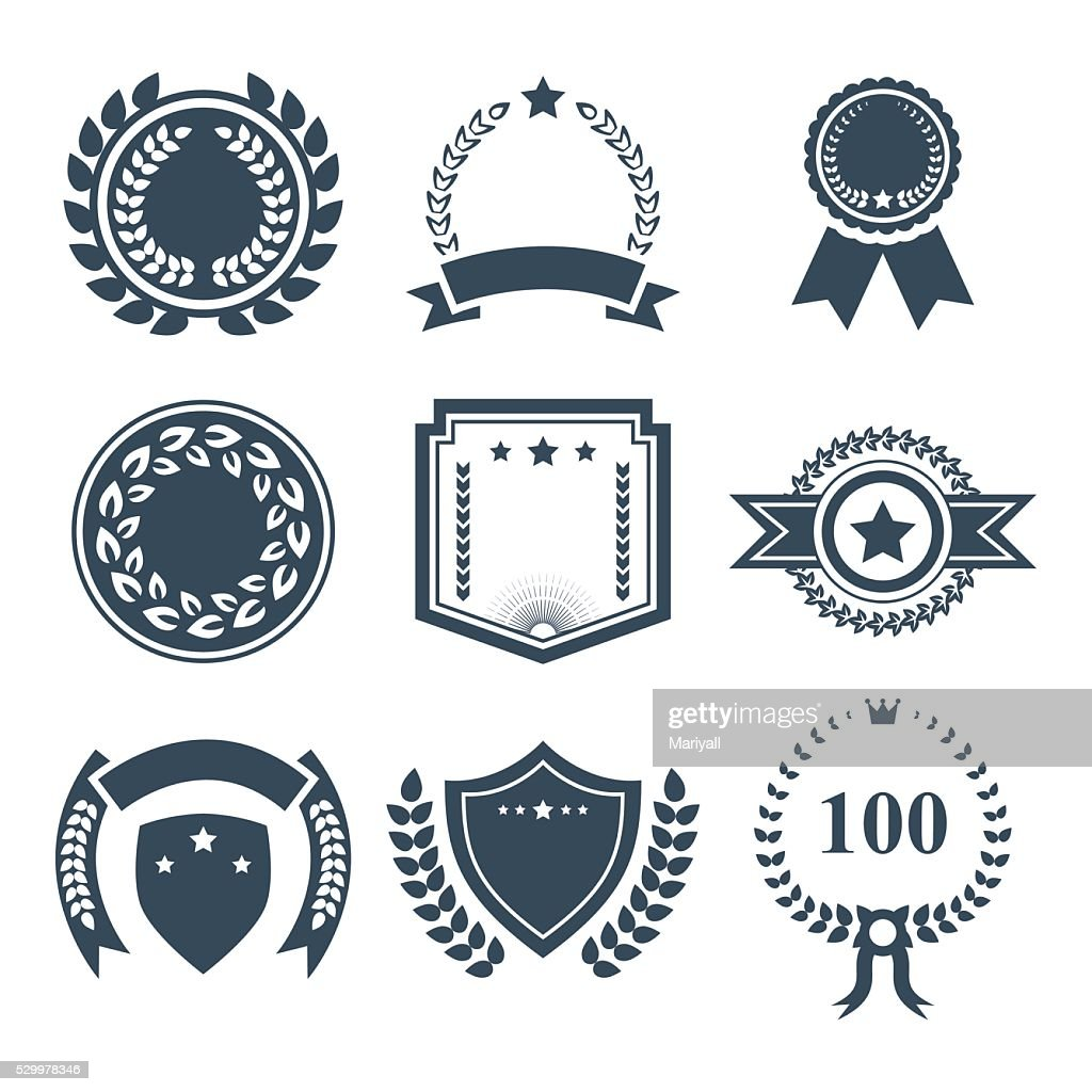 Award badges vector icon set.Vector symbols. Vector illustration