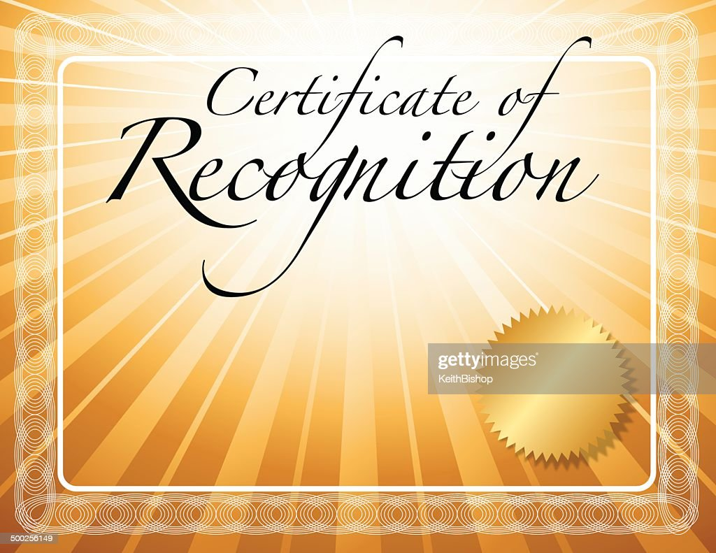 certificate for recognition
