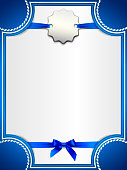 Award certificate with a silver medal