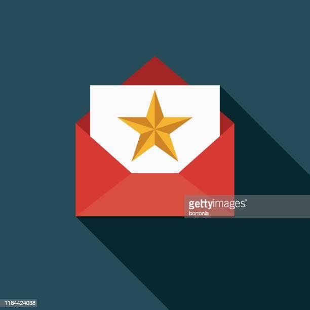 award envelope icon - award stock illustrations