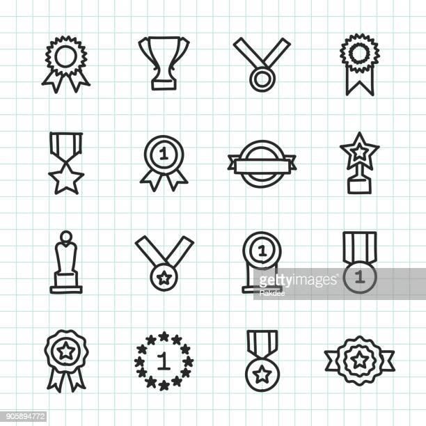 Icon - Hand gezeichnete Serie zu vergeben