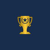 Award icon logotype, Trophy design vector illustration