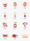 Award icon set, icon collection