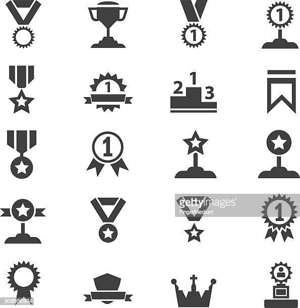 award icon set - number 1 stock illustrations, clip art, cartoons, & icons
