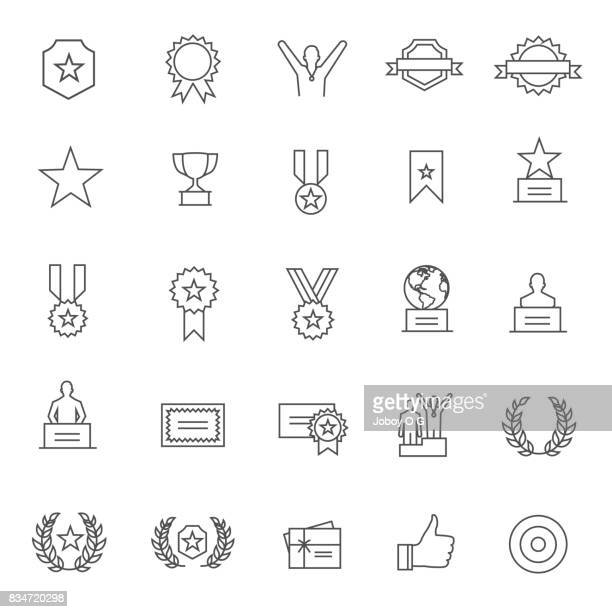 award icon - award plaque stock illustrations, clip art, cartoons, & icons