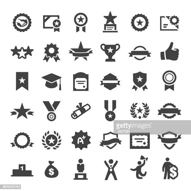 award icons - big series - achievement stock illustrations, clip art, cartoons, & icons