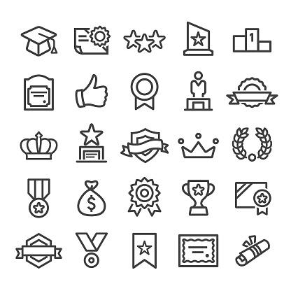 Award Icons - Smart Line Series - gettyimageskorea