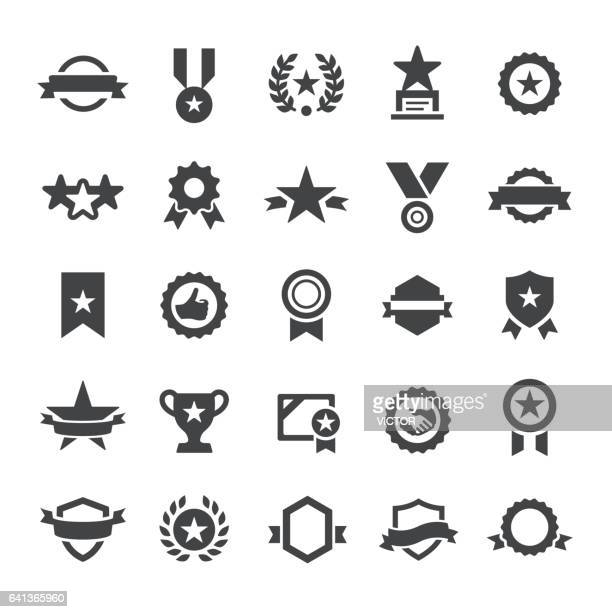 award icons - smart series - achievement stock illustrations, clip art, cartoons, & icons