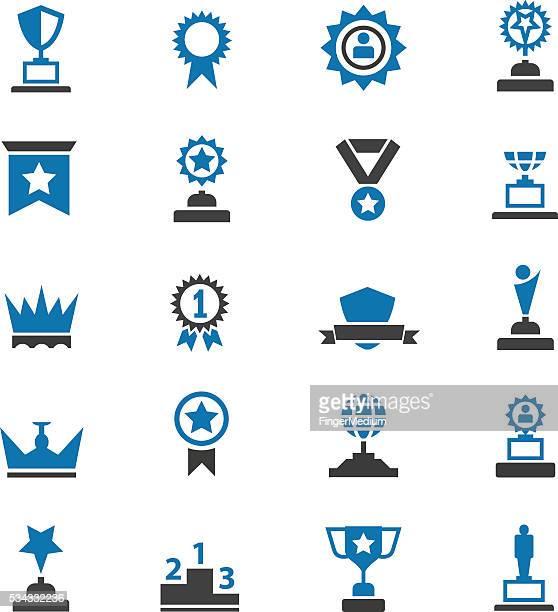 award icons - ambassador stock illustrations