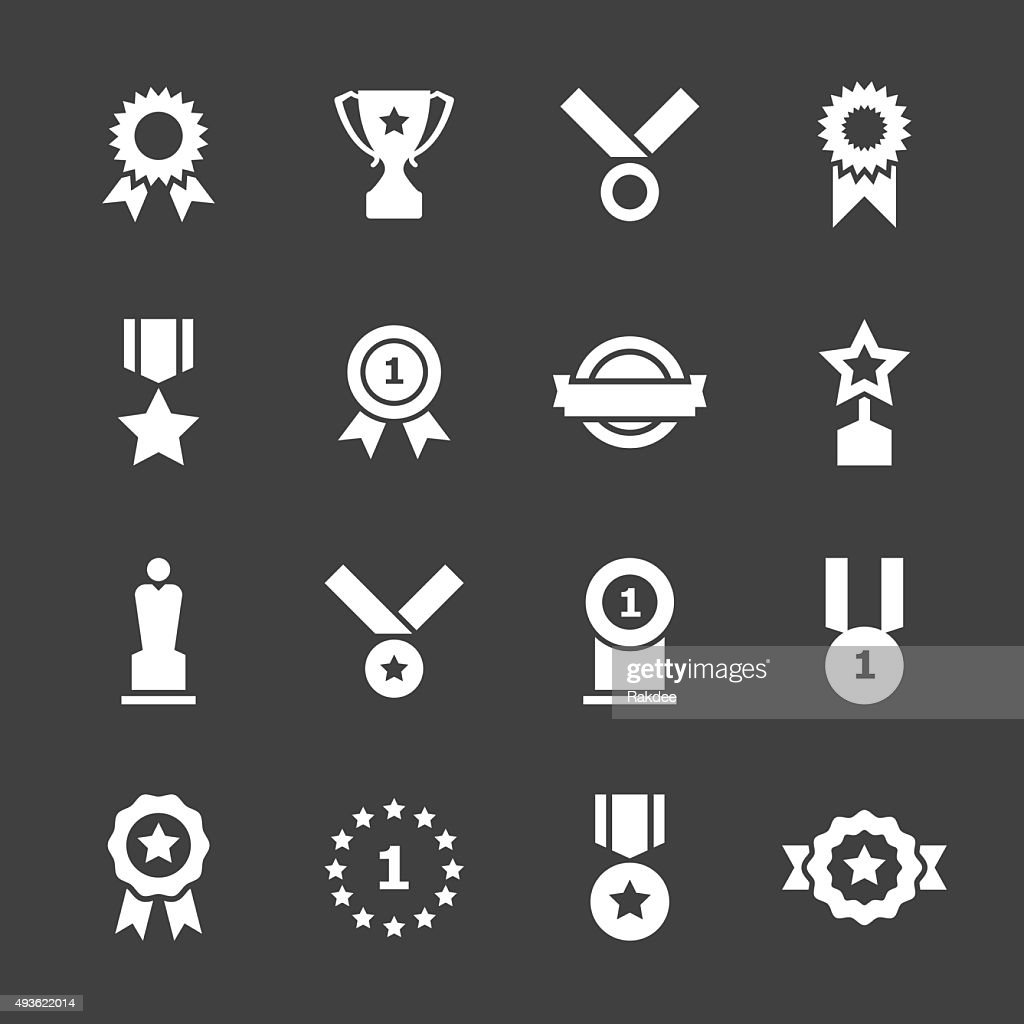 Award Icons - White Series : stock illustration