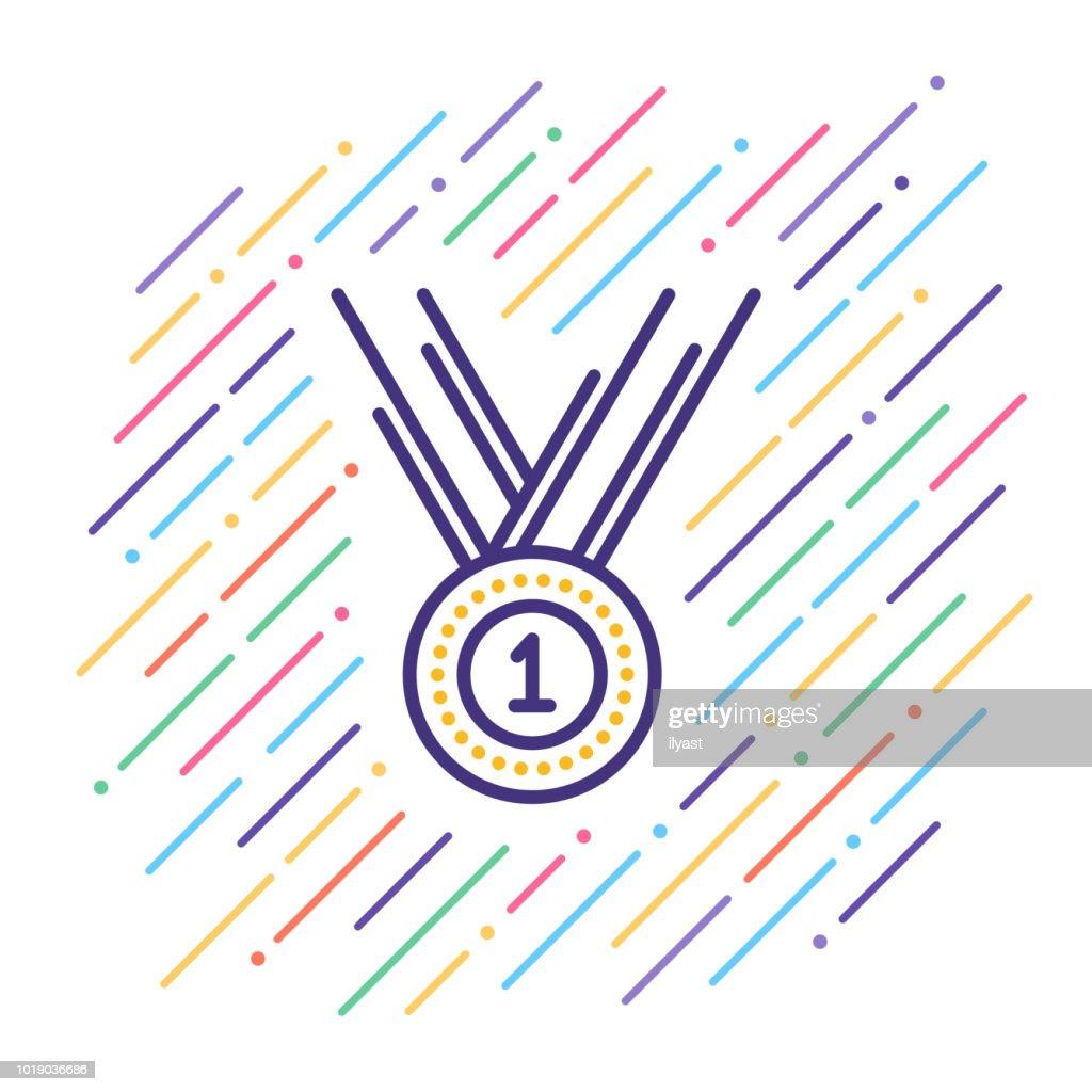 Award Line Icon : stock illustration