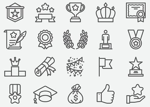 Award Line Icons - gettyimageskorea