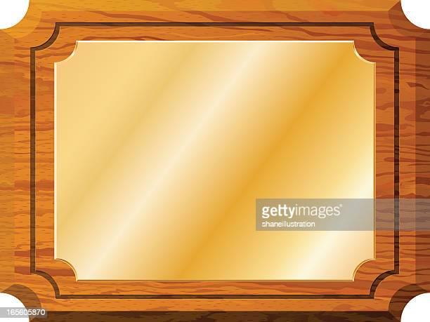 award plaque - memorial plaque stock illustrations, clip art, cartoons, & icons