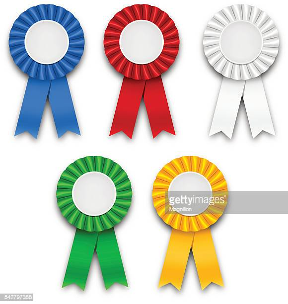 award ribbons - first second third place stock illustrations