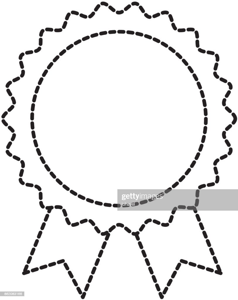award rosette with ribbon toy decoration