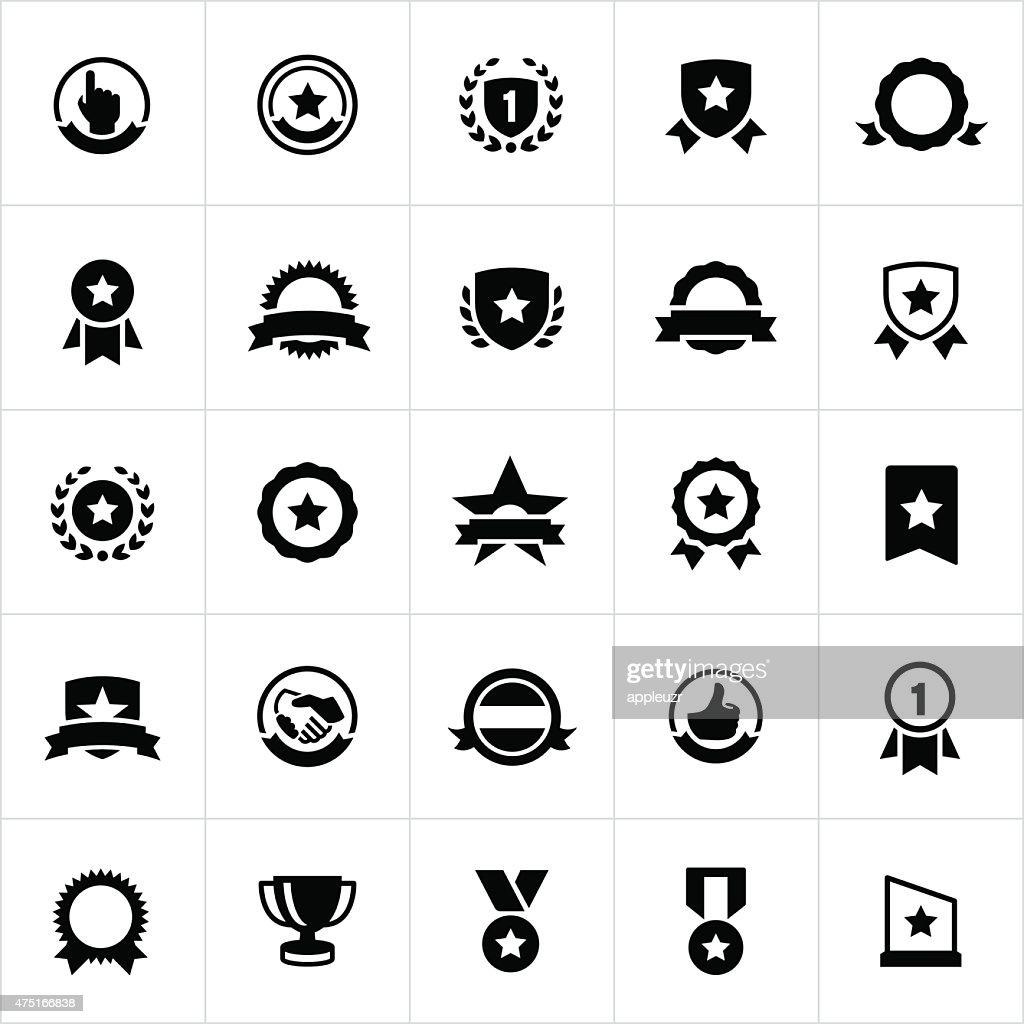 Award, Seals, Banners and Ribbons Icons : stock illustration