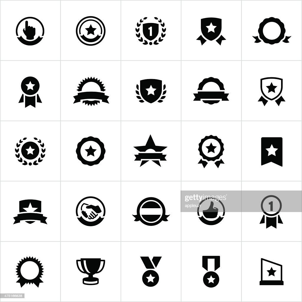 Award, Seals, Banners and Ribbons Icons