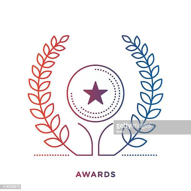 award symbol - laurel wreath stock illustrations