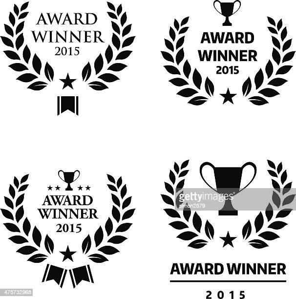 award winner emblem - award stock illustrations