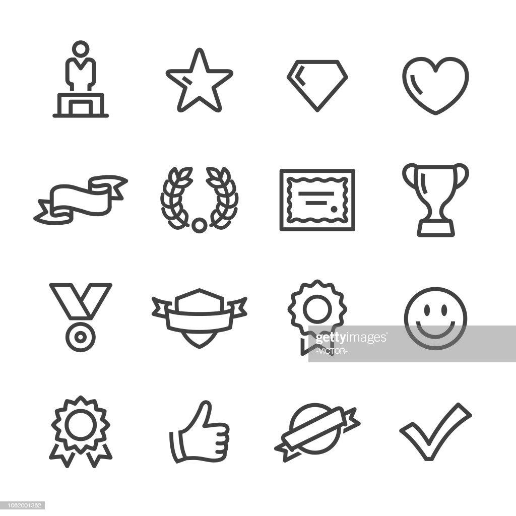Prêmios e prêmios ícones - linha série : Ilustração