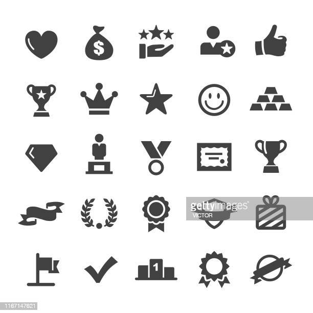 awards and prizes icons - smart series - small stock illustrations