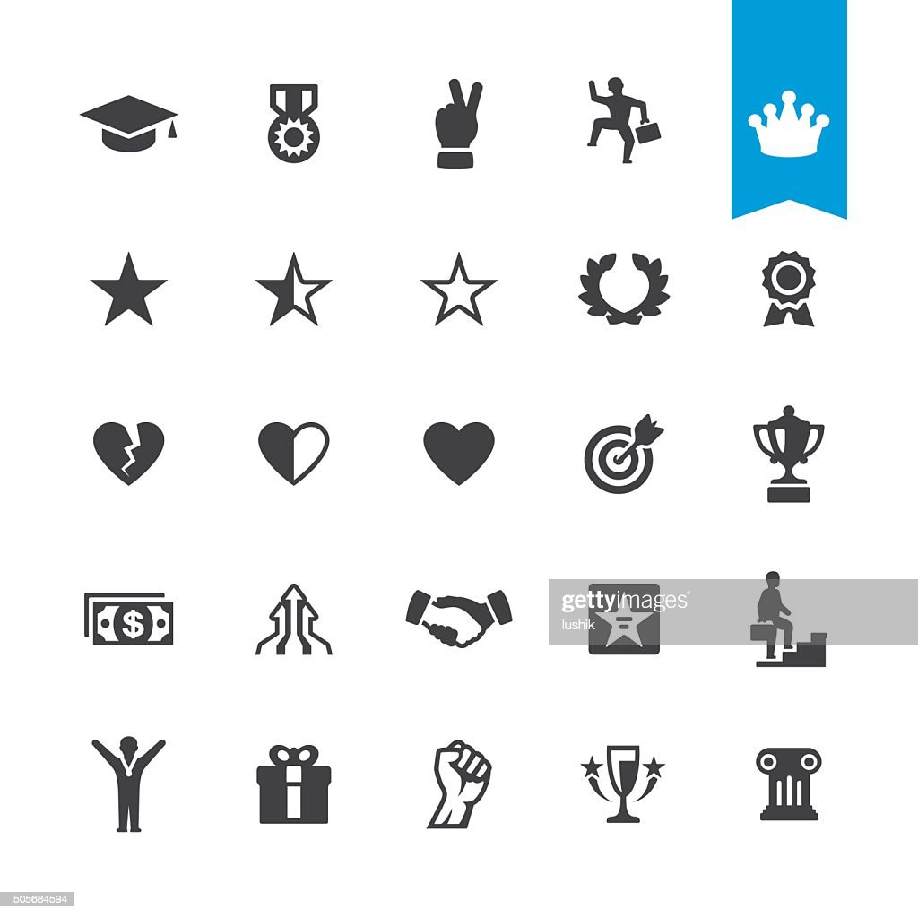 Awards and Winnings vector icons