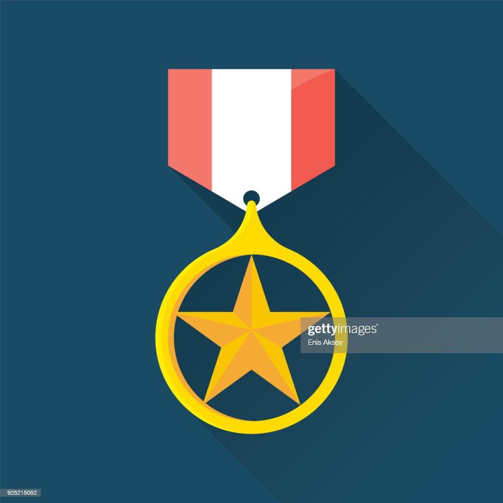 Awards Flat Icon : stock illustration