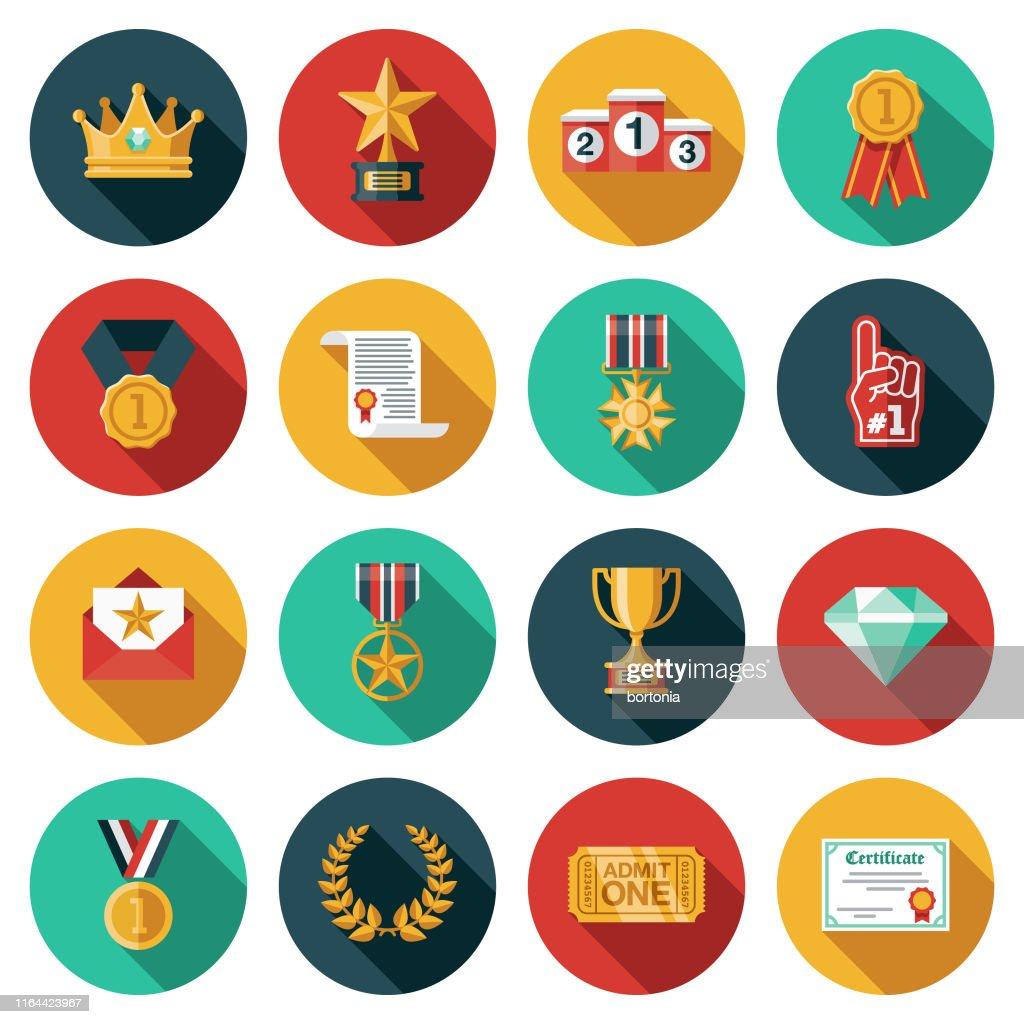 Auszeichnungen Icon Set : Stock-Illustration
