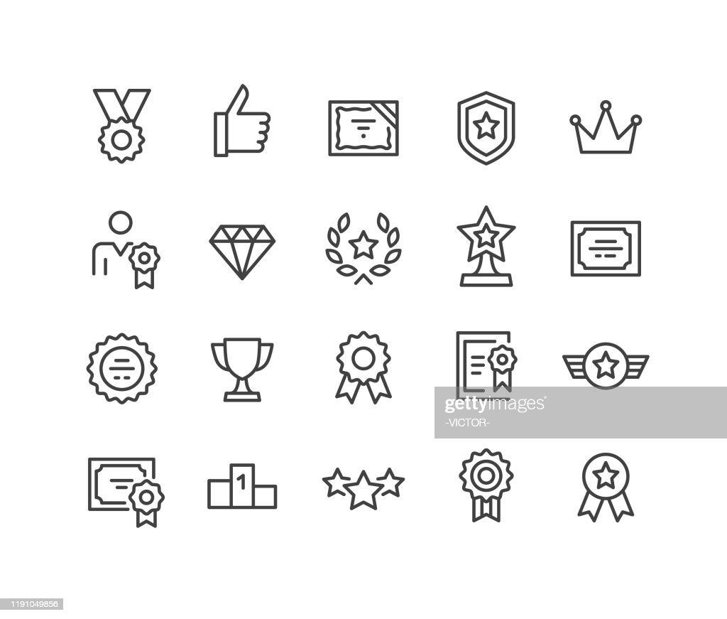 Awards icons-Classic Line Series : Stockillustraties