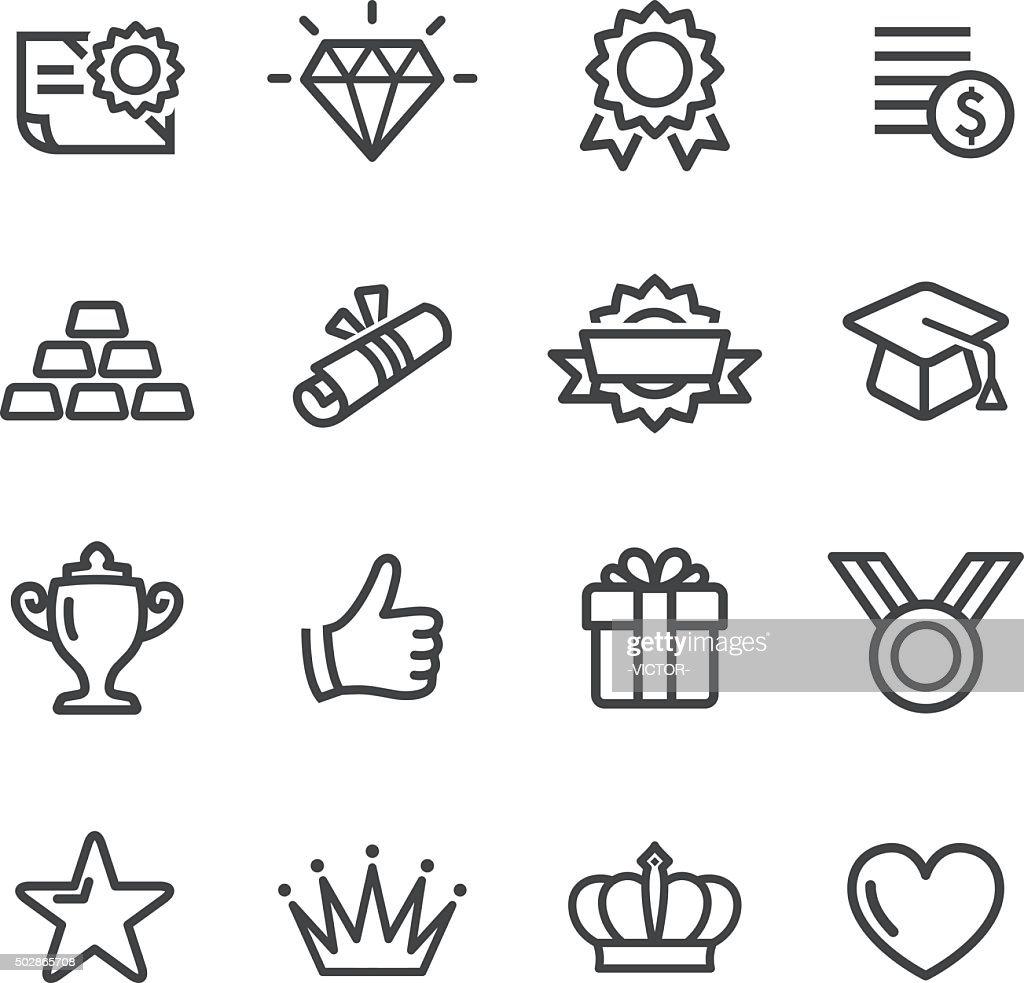 Awards Icons - Line Series : stock illustration
