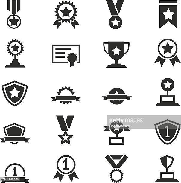 Awards icons set